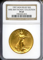 1907 $20 Saint Gaudens High Relief PF-69 NGC