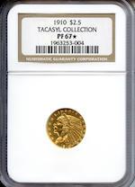1910 $2.5 PF-67 NGC