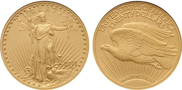 1911 $20 PF-68 NGC