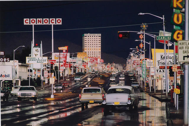 Ernst Haas (1921-1986); Route 66, Albuquerque, New Mexico, USA, from In America series;