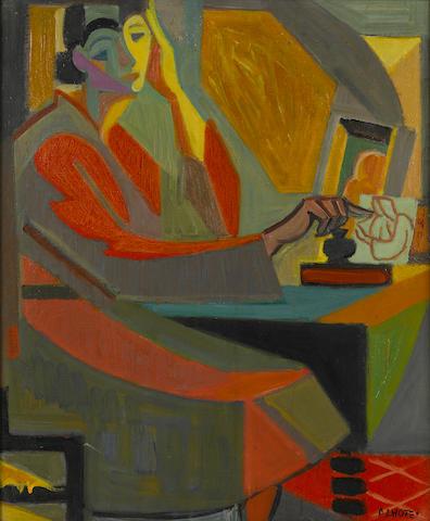 ANDRÉ LHOTE (1885-1962) Portrait de femme 18 1/8 x 15in. (46 x 38.1cm)