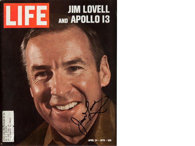 LIFE—JIM LOVELL AND APOLLO 13. Cover of Life magazine for April 24, 1970, with portrait of Lovell.