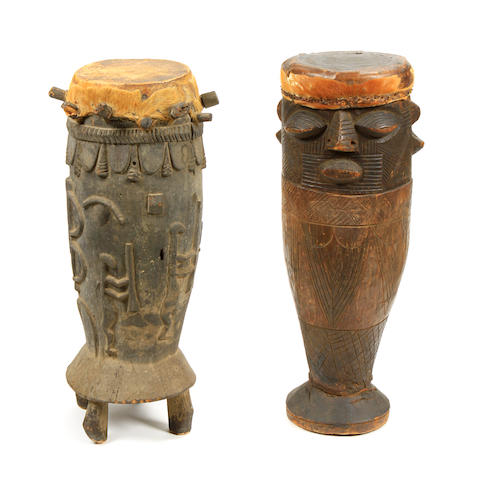 A group of two African drums