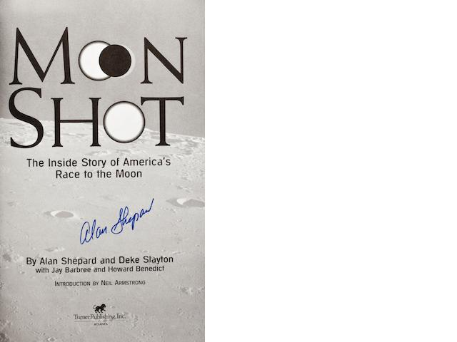 MOON SHOT—SIGNED BY SHEPARD. Moon Shot: the Inside Story of America's Race to the Moon. Atlanta, GA: Turner, 1994.