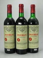 Château Pétrus 1975 (5)<BR />Château Pétrus 1985 (1)