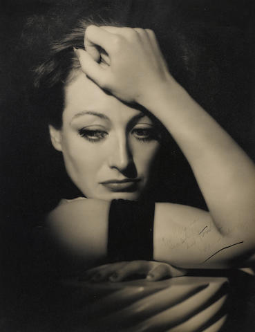 An inscribed Hurrell photograph of Joan Crawford