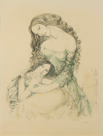 Léonard Tsuguharu Foujita (Japanese/French, 1886-1968); Untitled (Two women);