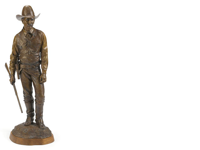 Douglas Van Howd (American, b. 1935), Texas Ranger, signed and numbered, '1/50', bronze, height 43in