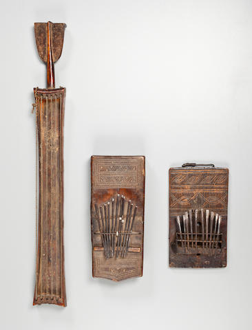 Two Chokwe Thumb Pianos, Angola - Ref. 1290 + 1232