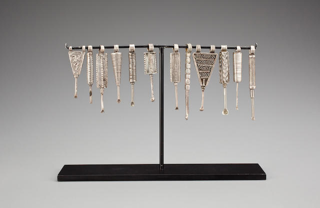 Group of Twelve Tuareg Ear Picks, Ethiopia