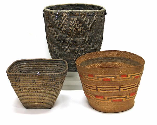 Three Northwest baskets