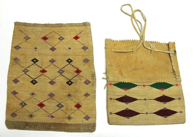 Two Plateau cornhusk bags