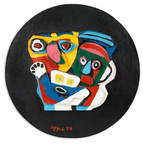 Karel Appel (1921-2006); Deux Personnages;
