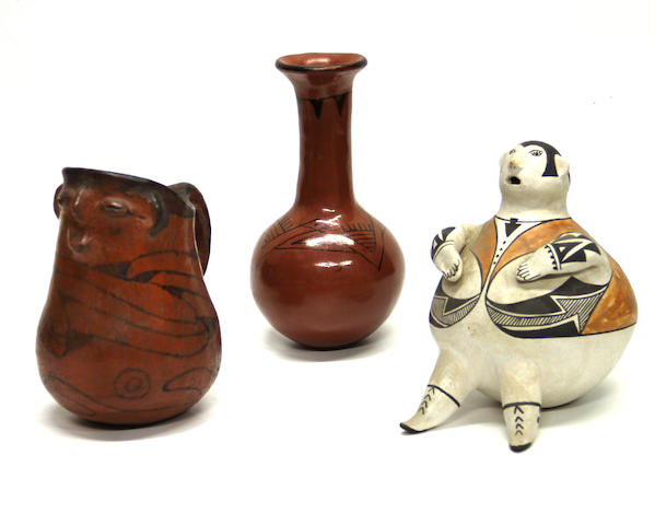 Three Southwest pottery items