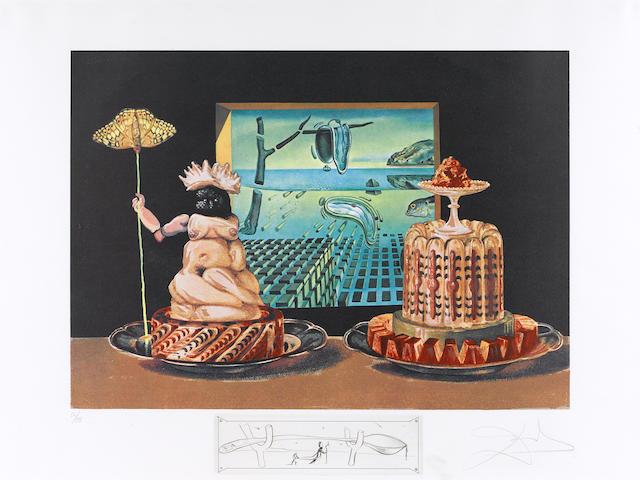 Salvador Dali Diner de Gala, 1971 Portfolio of 12 prints;