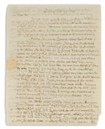 "ADAMS, JOHN. 1735-1826. Autograph Letter Signed (""John Adams""), 3 pp, 4to, Quincy MA, January 29, 1813, to Benjamin Rush,"