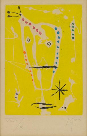 Joan Miró (Spanish, 1893-1983); from Les Brisants color aquatint (D. 243);