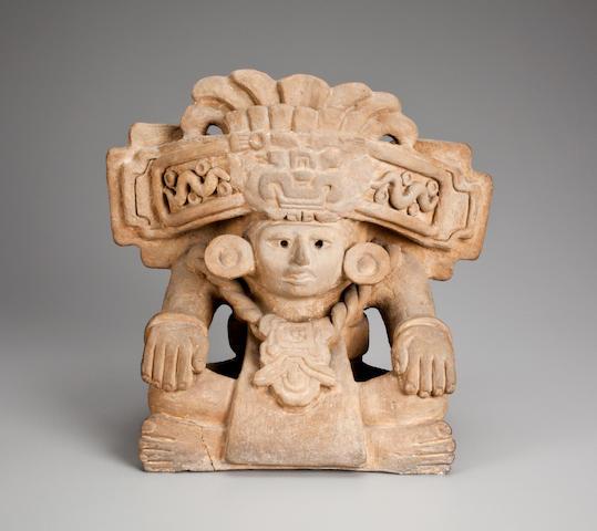 Zapotec Figural Urn, Monte Alban III Classic, ca. A.D. 450-650