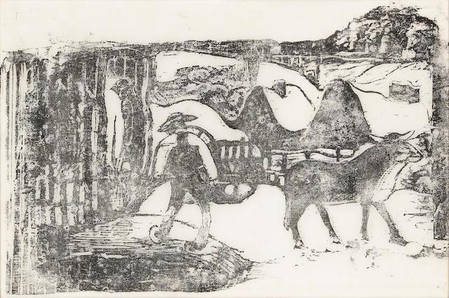 Paul Gauguin (1848-1903); Le Char à Boeufs-Souvenir de Bretagne ;