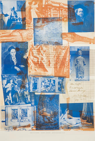 "RAUSCHENBERG, ROBERT (American, 1925-2008) ""Metropolitan Museum of Art"" RAUSCHENBERG, ROBERT (American, 1925-2008) ""Metropolitan Museum of Art"" Offset lithograph 37"" x 25"" Framed and glazed"