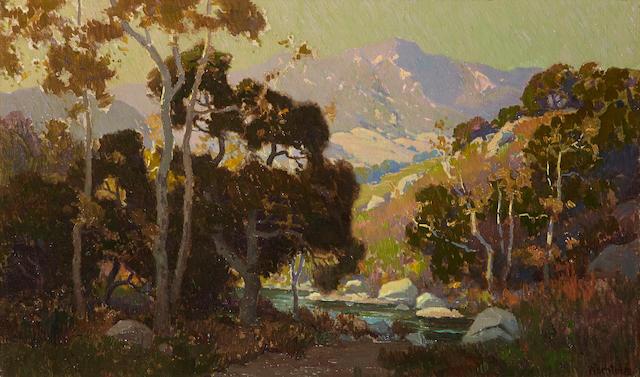 Elmer Wachtel (American, 1864-1929) Topanga 18 x 30in