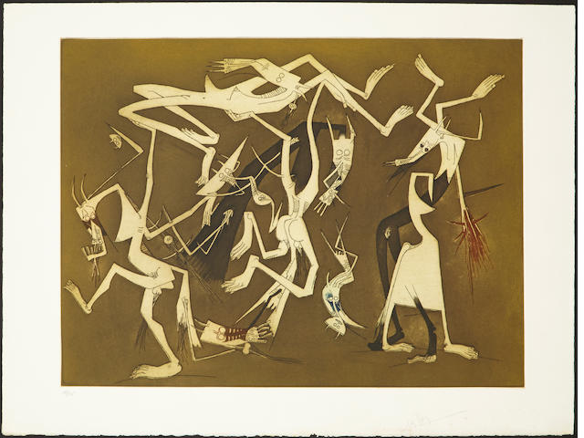 Wifredo Lam (1902-1982); Nouvelle Bonté; Passages; Rabordaille, from Annonciation Portfolio; (3)
