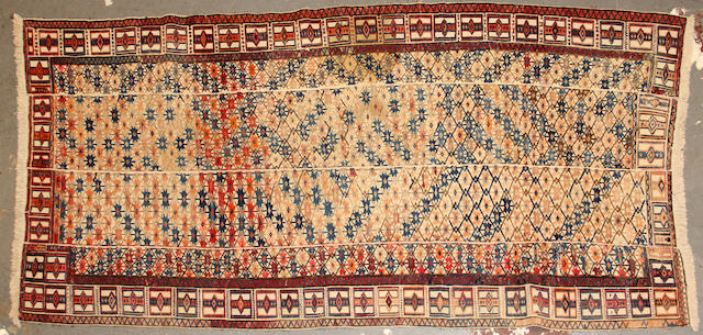 A Turkish kilim size approximately 3ft. 8in. x 8ft. 3in.