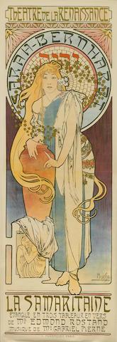 Alphonse Mucha, La Samaritaine, (RW 24), 1897, Linen backed lithograph, 167cm x 54cm