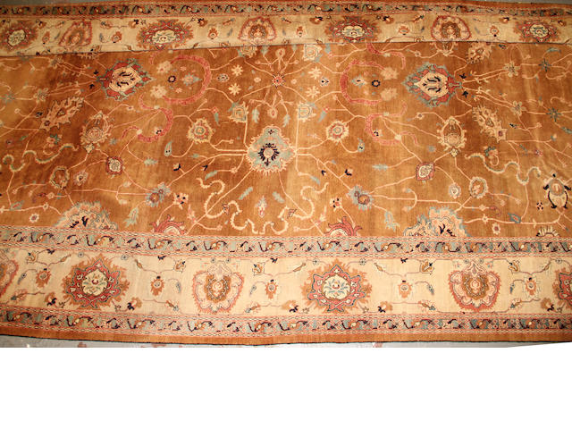 An Indo Kashan carpet  size approximately 12ft. 8in. x 20ft. 1in.