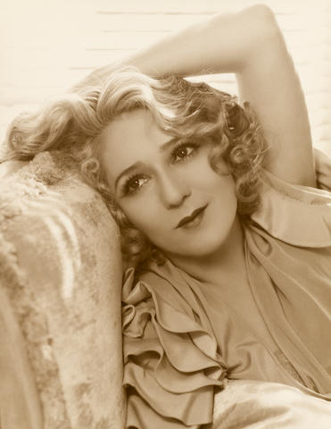 A LARGER SREICHEN PHOTOGRAPH OF MARY PICKFORD