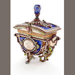A Lapis jeweled box