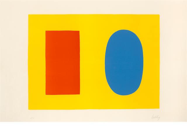 Ellsworth Kelly (born 1923); Orange and Blue over Yellow;