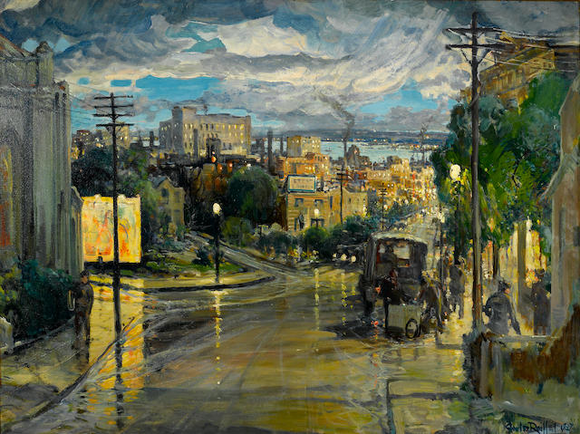 Charles Reiffel, Rainy Evening, 1937