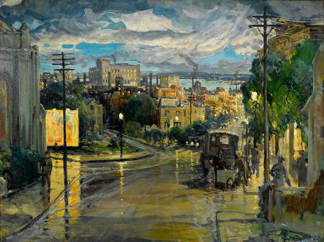 Charles Reiffel (American, 1862-1942) Rainy Evening, 1937 36 x 48in