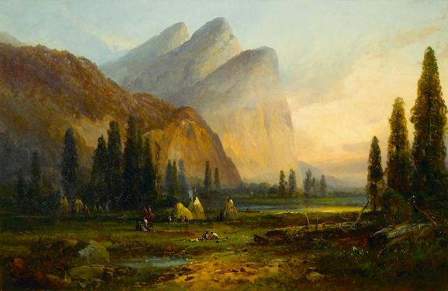 Andrew Melrose, Indian Encampment, Yosemite Valley