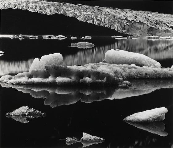 Brett Weston, Mendenhall Glacier, 1973, gsp, signed