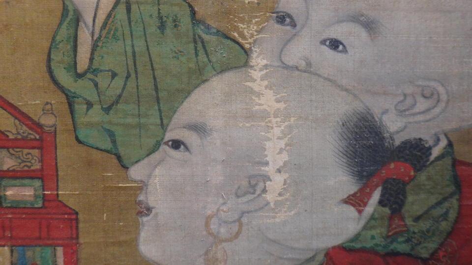 after Su Hanchen (1094-1172) The Knickknack Peddler 15th century