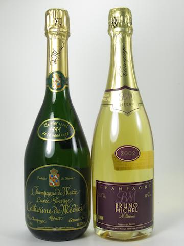 De Meric Vintage Champagne 1999 (2)  Ruelle-Pertois Vintage Champagne 1999 (2)  Bruno Michel Vintage Champagne 2002 (2)  Lancelot-Pienne Vintage Champagne 2002 (2)  Marguet Père et Fils Champagne NV (2)  De Meric Champagne NV (2)