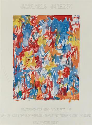 Jasper Johns (American, born 1930); Dayton's Gallery 12;