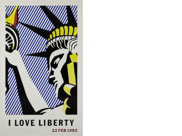 "LICHTENSTEIN, ROY (American, 1923-1997) ""I Love Liberty"" LICHTENSTEIN, ROY (American, 1923-1997)