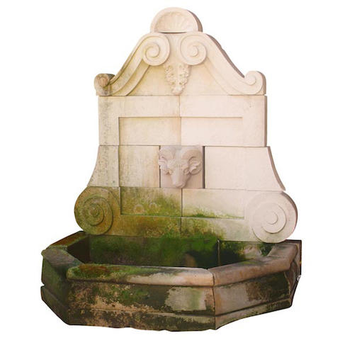 A Neoclassical style limestone fountain
