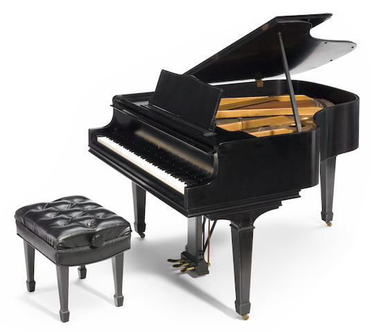 A William Knabe and Co. ebonized baby grand piano, Previously owned by Cole Porter (pending provenance and further research).