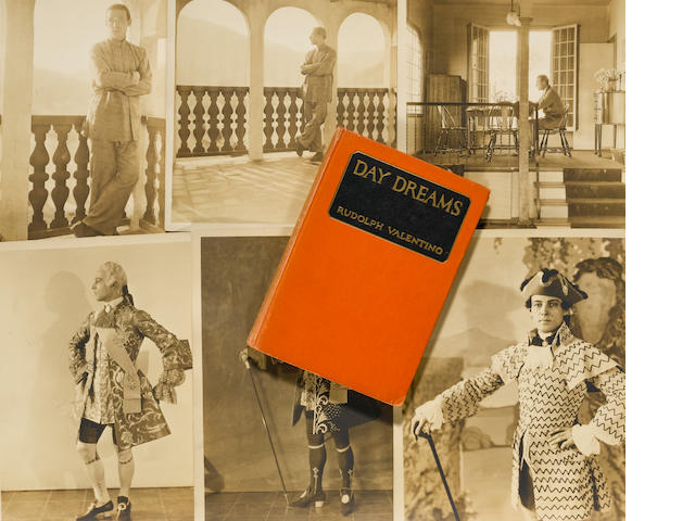 Rudolph Valentino book entitled Day Dreams. Together with six photographs of Valentino by Abbe, including in character in Monsieur Beaucaire, and at home at Falcon Lair.