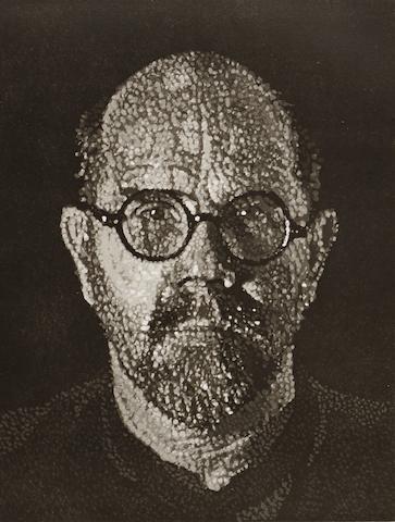 Chuck Close (born 1940); Self-Portrait I (Dots);