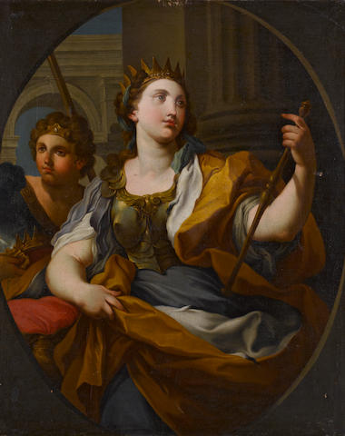 Follower of Sebastiano Conca (Gaeta circa 1676-1764 Naples) An allegory of Justice; An allegory of Fortitude (a pair) each 47 x 38in (119.4 x 96.5cm)