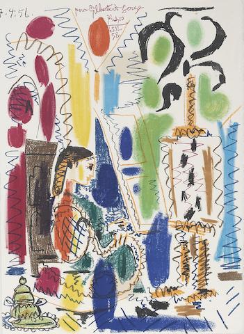 Pablo Picasso (1881-1973); L'Atelier de Cannes, cover for Ces peintres nos amis Vol. II;