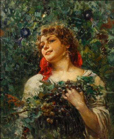 Italian School, ? The grape picker
