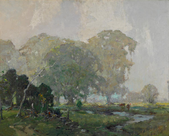 Chauncey Foster Ryder (American, 1868-1949) Milford Plain 32 1/4 x 40in