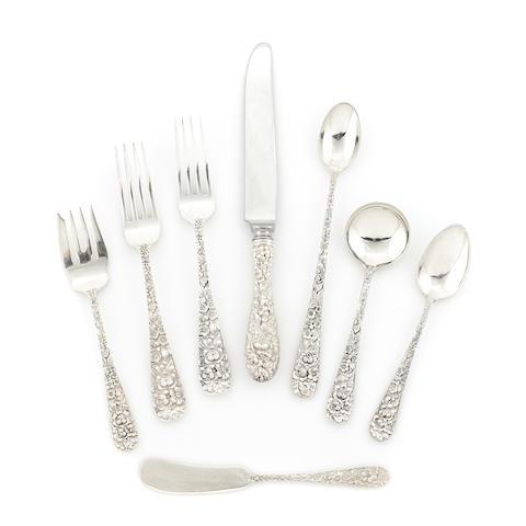 A Steiff sterling silver 'Rose' pattern flatware service
