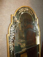 An Italian Neoclassical engraved and gilt pier mirror